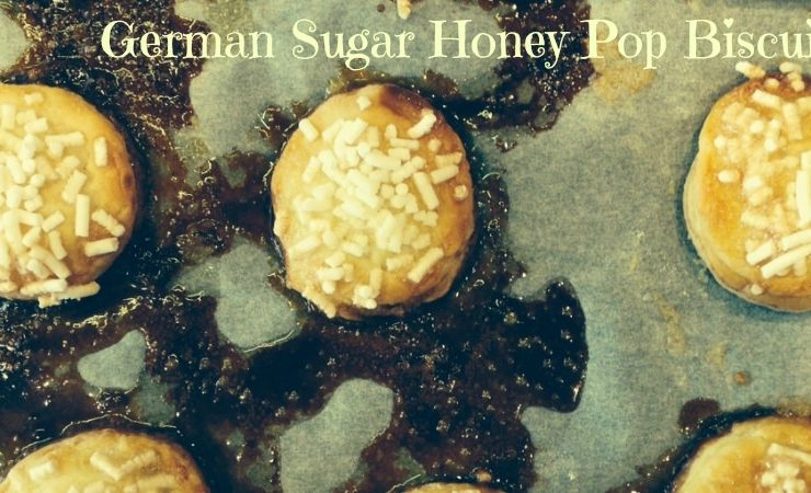 German honey sugar pop biscuits