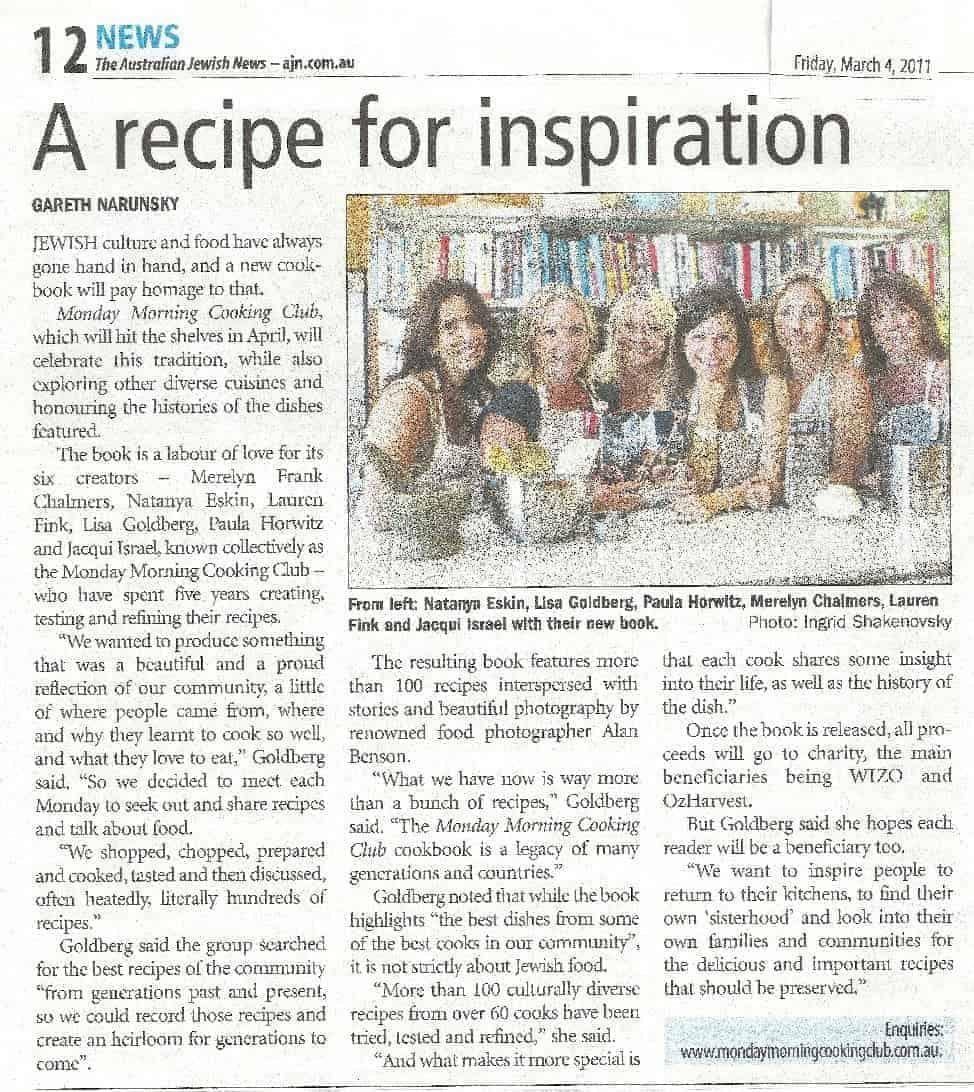 Australian Jewish News, March 2011