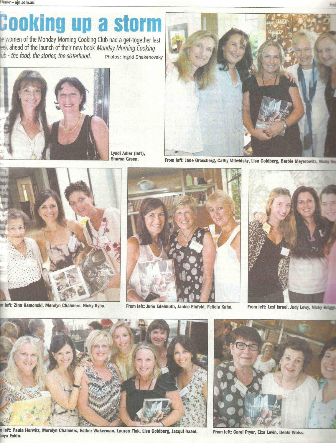 Australian Jewish News 1 April 2011, Book launch copy