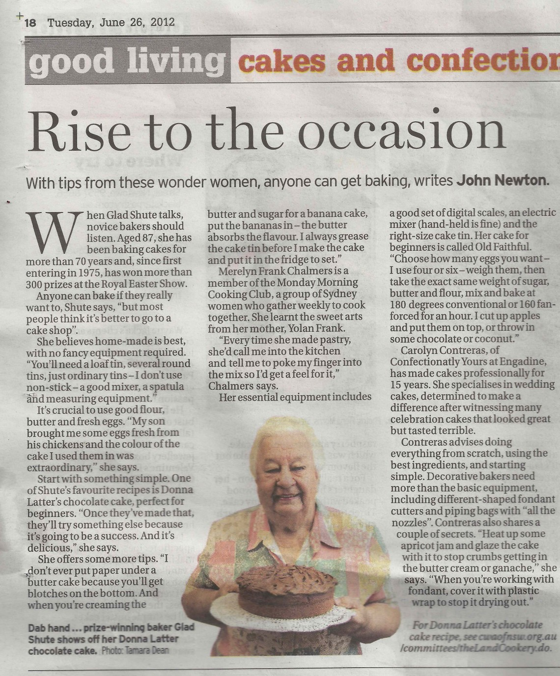 Sydney Morning Herald GL 26 June 'Rise to the Occasion'