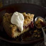 Plum crumble cake home baking