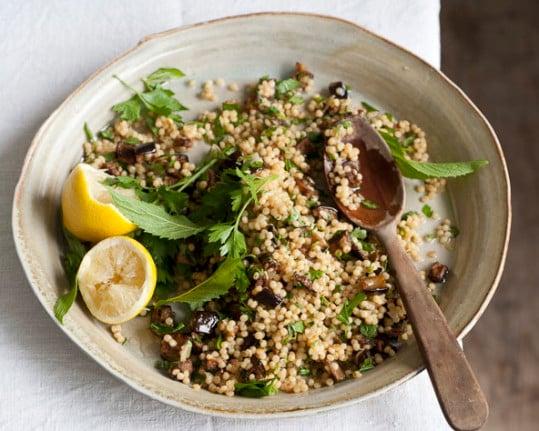 Ruby's Eggplant and Israeli Couscous salad. Photo: Alan Benson
