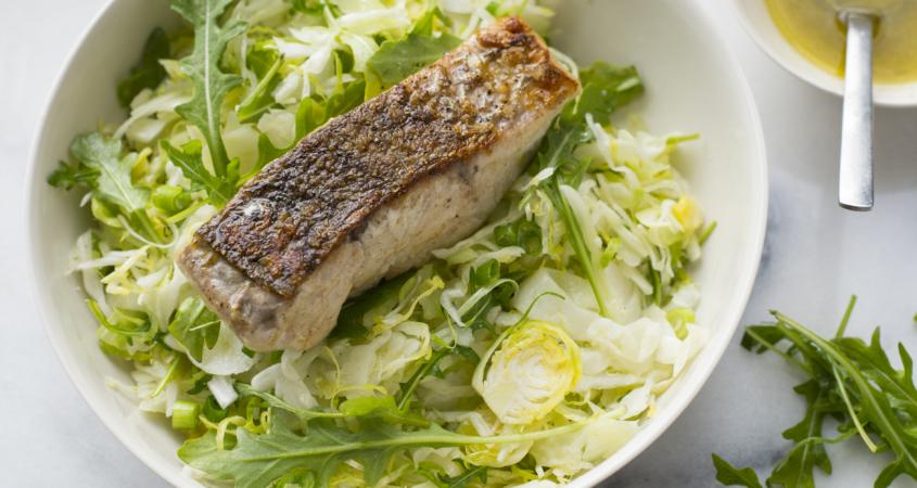 Barramundi with shaved white salad resized