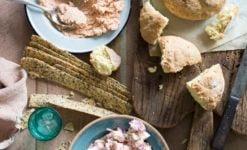 Irish Soda Bread, Smoked fish pate, Herring salad, lavosh-1